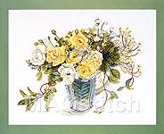 """Набор для вышивки крестом Желтые розы - Fujico """"Yellow Roses"""""""