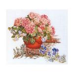 Набор для вышивки крестом Гортензия розовая
