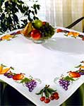 Aida tablecloth with chart