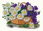 Набор для вышивки крестом Цветы для мамы