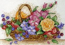 Набор для вышивки крестом Floral Basket