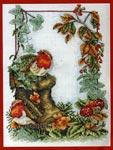 Набор для вышивки крестом Floral robins