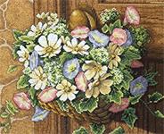 Набор для вышивки крестом Flowers on doorknob