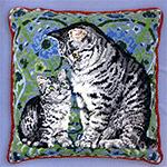 Набор для вышивки крестом Mintaka and Lucy on an english carpet