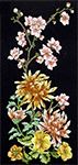 Oriental Chrysanthemum panel