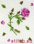 Набор для вышивки крестом Rose study