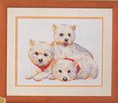 Набор для вышивки крестом West highland white terriers