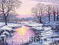 Набор для вышивки крестом Зимний закат - Winter Sunset