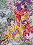 Набор для вышивки крестом Geishas - Гейши
