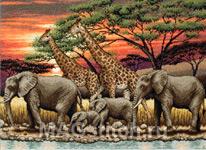 Набор для вышивки крестом African Sunset - Африканский закат