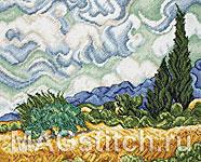 Набор для вышивки крестом Пшеничное поле с кипарисами - Wheat Field With Cypresses