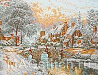 Набор для вышивки крестом Булыжный мост на Рождество - Cobblestone Christmas