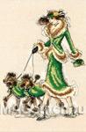 Набор для вышивки крестом Prancing Poodles - Гарцующие пудели