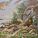Набор для вышивки крестом Домик на побережье - Seaside Hideaway