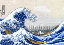Набор для вышивки крестом The-great-wave-off-kanagawa - Большая волна в Канагава