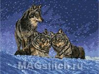 Набор для вышивки крестом Волки - Wolves