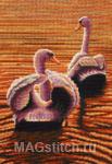 Набор для вышивки крестом Twilight Swans - Лебеди на закате