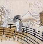 Набор для вышивки крестом Kimono Pagoda View - Кимоно. Вид на пагоду