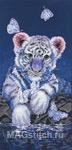 Набор для вышивки крестом White Baby Tiger - Белый тигрёнок