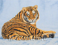 Набор для вышивки крестом Siberian Snow - Амурский тигр в снегу