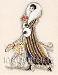 Набор для вышивки крестом Femmme Fatale - Роковая женщина (борзые)