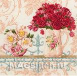 Набор для вышивки крестом Chintz and Roses - Ситец и розы