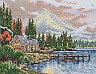Набор для вышивки крестом Убежище у озера - Lakeside Hideaway