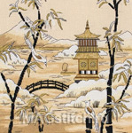 Набор для вышивки крестом Kimono Pagoda Horizon - Кимоно Пагода вдалеке