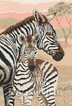 Набор для вышивки крестом Zebra Family - Зебры. Семья