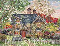 Набор для вышивки крестом Пряничный домик - Gingerbread Cottage