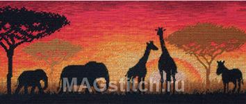 Набор для вышивки крестом African Horizon - Африканская панорама