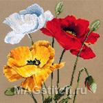 Набор для вышивки крестом Poppy Trio - Три мака