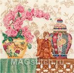 Набор для вышивки крестом Oriental Study - Натюрморт в восточном стиле