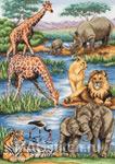Набор для вышивки крестом African Wildlife - Дикая природа Африки