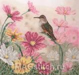 Набор для вышивки крестом Bird And Floral - Птица и цветы
