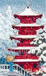 Набор для вышивки крестом Red Pagoda - Красная пагода