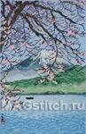 Набор для вышивки крестом Fuji From Kishou Nishiizu - Вид на Фудзи в ясную погоду, Западный Идзу
