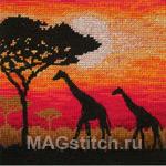 Giraffe Silhouette - Силуэты жирафов
