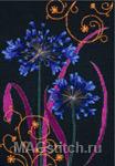Набор для вышивки крестом Ornamental Agapanthus - Узор с агапантусом