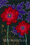 Набор для вышивки крестом Ornamental Anemones - Узор с анемонами