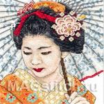 Набор для вышивки крестом Geisha Portrait - Портрет гейши