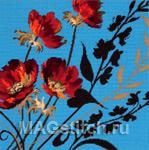 Набор для вышивки крестом Blue Ember - Красные угольки на голубом