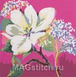 Набор для вышивки крестом Blossom On Pink - Цветение на розовом