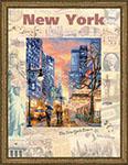 Набор для вышивки крестом Города мира. Нью-Йорк