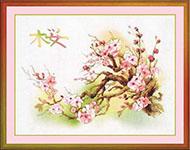Набор для вышивки крестом Ветка сакуры