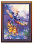 Набор для вышивки крестом Птица счастья