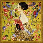 Набор для вышивки крестом Дама с веером - по мотивам картины Г Климта