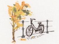 Рисуем нитками велосипед