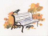 Набор для вышивки крестом Рисуем нитками скамейка