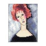 Набор для вышивки крестом Девушка с рыжими волосами - Red-haired girl
